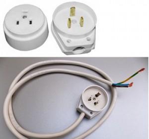 вилка,шнур и розетка для подключения электроплиты