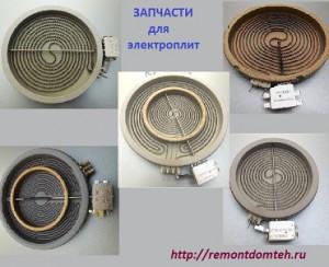Конфорки для плит со стеклокерамической панелью