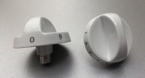 Ручка электроплиты ЗВИ белая 9 делений