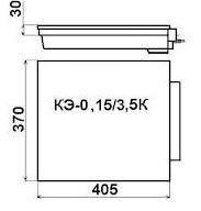 габаритные размеры электрической конфорки КЭ - 0,15 для промышленных плит