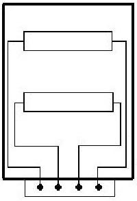схема спиралей эл.конфорки КЭ-0,17 пром.электроплит