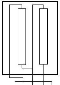 электрическая схема спиралей конфорки КЭ 0,15 для промышленных плит
