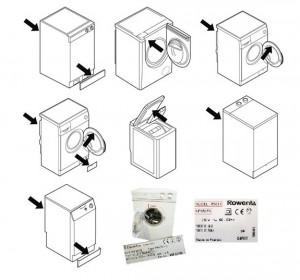 где написана модель и номер стиральной машины